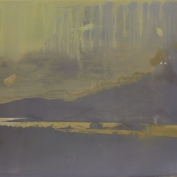 lake-dusk-haze, oil on plywood, 12x15 inches, 2014
