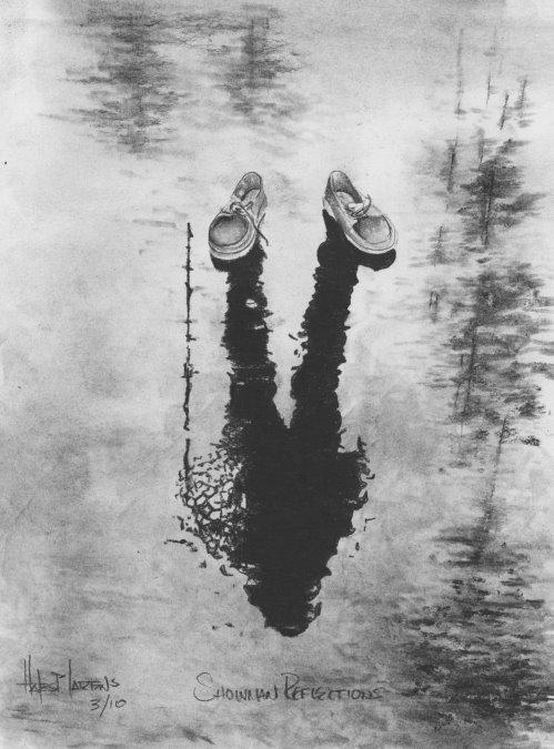 Snowman Reflections