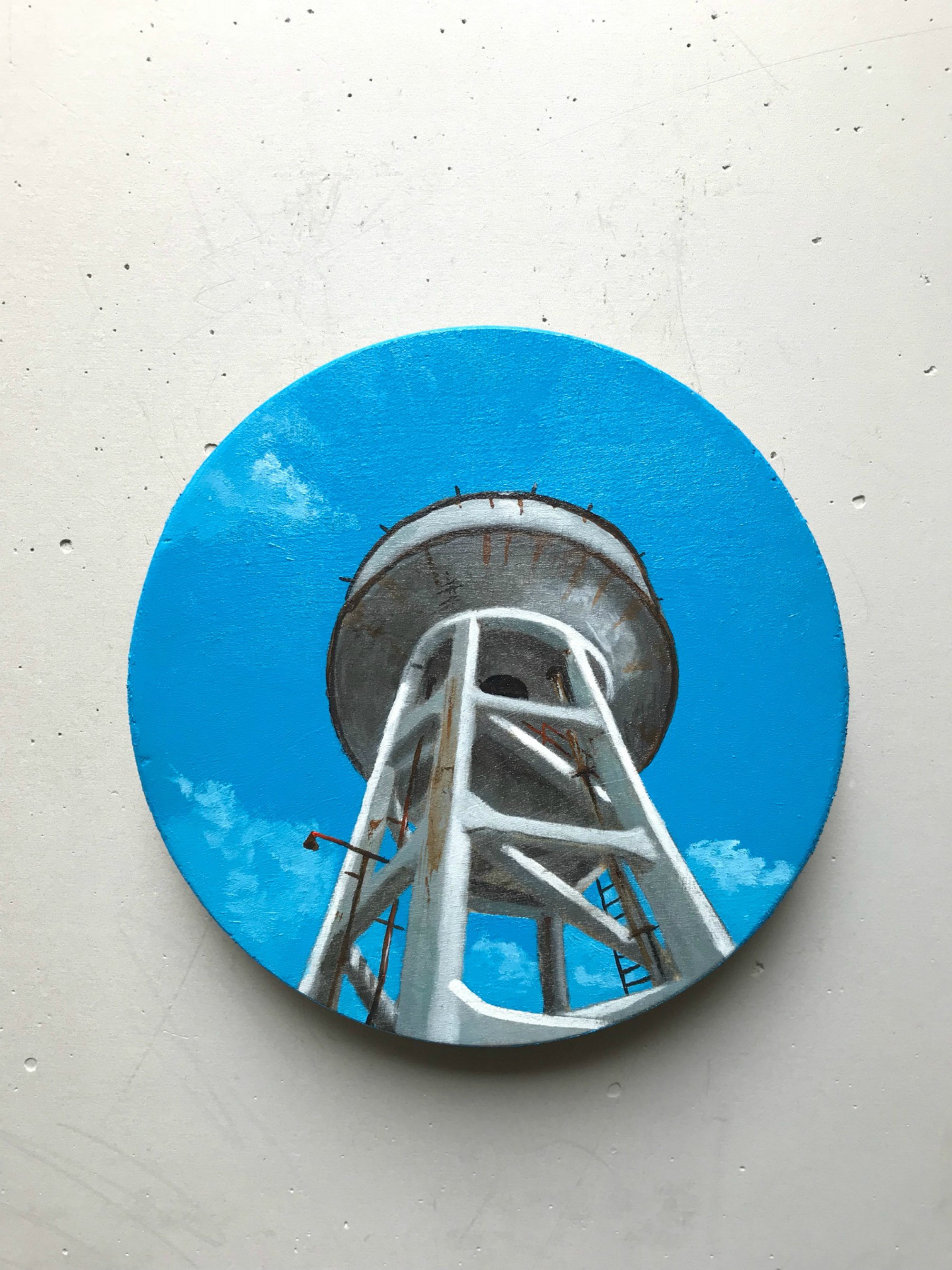 Artwork on Wood Canvas by Mario Loprete