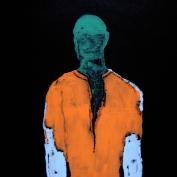 65x70cm acrylic on MDF title Alienated 2