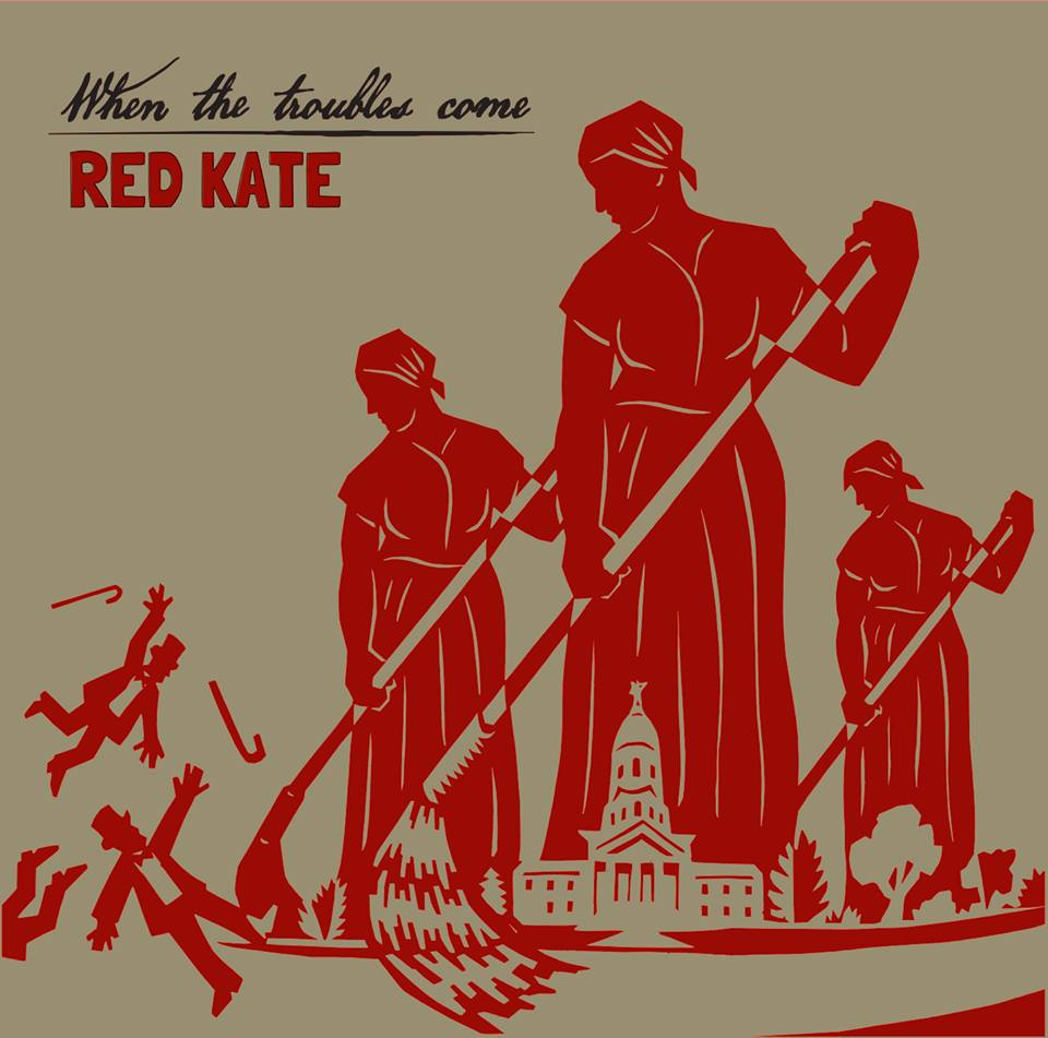 Red Kate Album Cover Design by Dave Loewenstein: Cut-Paper Collage