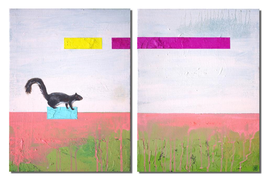 Cache Behaviour animal art painting Will Eskridge