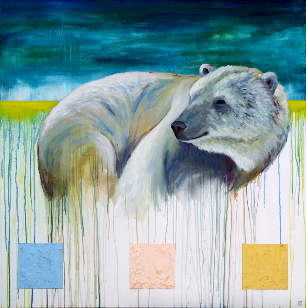 Snuggle Up Its Going to Get Cold animal art painting Will Eskridge