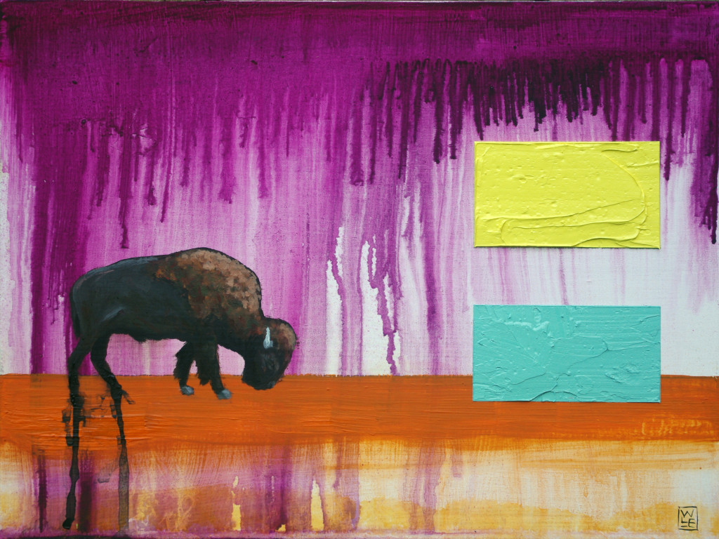 Where Do the Buffalo Roam animal art painting Will Eskridge