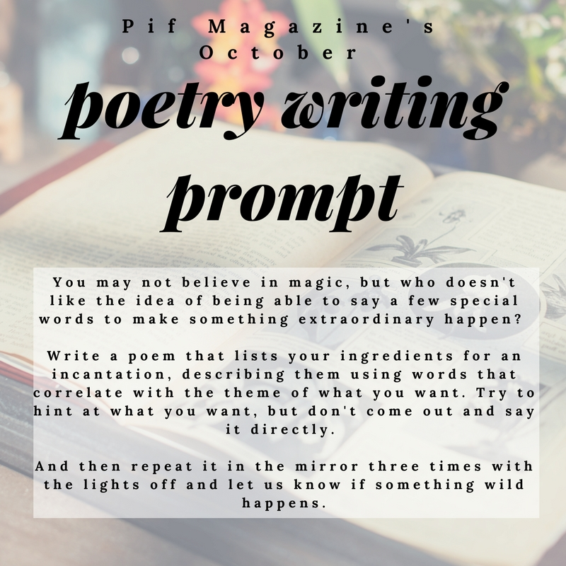 October Poetry Prompt